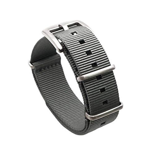 20mm/22mm Pin fibbia del cinturino in nylon Nato Strap for Military Watch Uomo Accessori 22mm Grigio