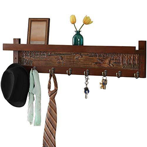 Abrigo de Pared Antiguo Ganchos de Rack hazaña Dormitorio Tablas de Almacenamiento Abrigo de Pared Ganchos con estantes Abrigo Ganchos Perchas (Size : B)