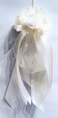 Kirchenschmuck Kirchbankschleife Stuhlschleife Hochzeit KS0015 creme champagner ivory