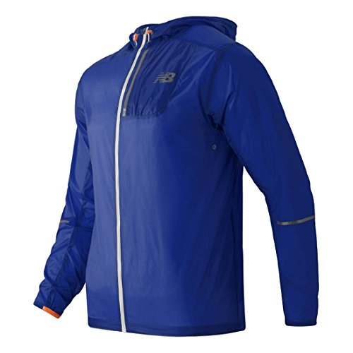 New Balance Men's Light Packable Jacket, Marine Blue, Medium