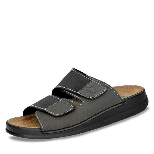 Helix Herren Pantolette schwarz Graphite Leder von Größe 41 bis 46, Farben:schwarz, Herren Größen:44