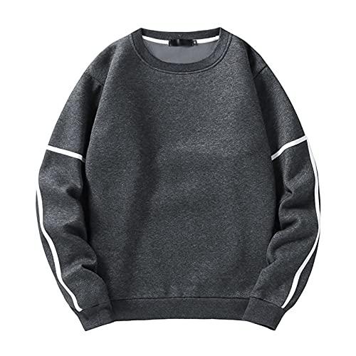 SSBZYES Camisa Deportiva para Hombre Camiseta De Manga Larga Suéter De Cuello Redondo para Hombre Suéter De...