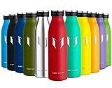 Super Sparrow Edelstahl Trinkflasche - Kleinmaul Isolierflasche - 750m - Sport-Wasserflasche - Auslaufsichere Kappe - BPA-frei - Ideale Thermosflasche für Schule, Outdoor, Fahrrad, Fitness
