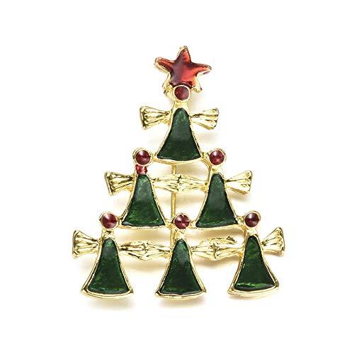 Preisvergleich Produktbild NSH Weihnachten Schneemann Weihnachten Brosche Kranz Glocke Büstenhalter Einfache Dekorationen Kreative Persönlichkeit Tägliches Werkzeug