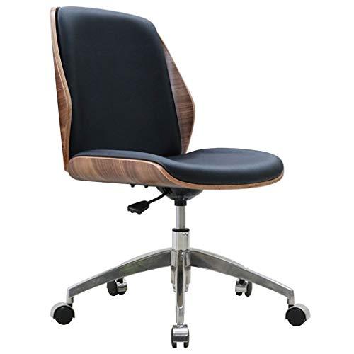 Schreibtischstühle Home Heim Computerstuhl Büro Konferenzstuhl Massivholz ohne Armlehnstuhl Moderner minimalistischer Stuhl (Color : Black, Size : 54cm*54cm*91cm)