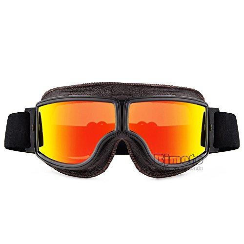 Mode classique Motocross anti-buée Retro Lunettes de moto vintage Scooter pour masque de ski Racing Motif Street Bike Motorsport Lunettes Eyewear