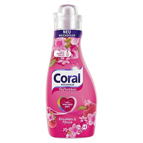 Coral Dufterlebnis Weichspüler Kirschblüte & Pfirsich für frische Wäsche mit langanhaltendem Wäscheduft 25 + 2 WL 1 Stück