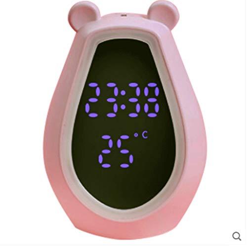SMX Alarmlamp, bluetooth-luidspreker, bureaulamp, wekker, creatieve leuke karikatuur, zilver-oplaadbare multifunctionele wekker, met make-up spiegel