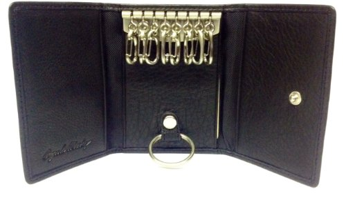 Osgoode Marley Leather 8 Hook Key Case Black
