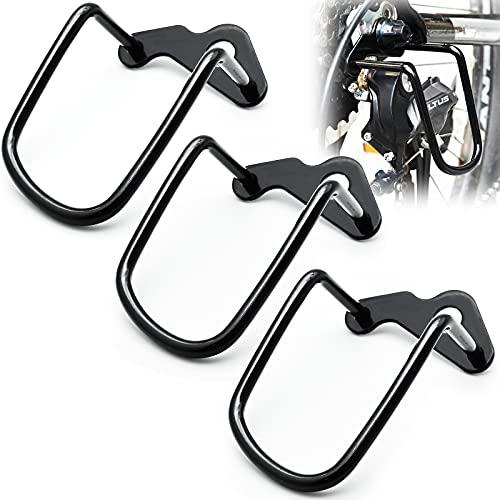 JTOOYS Fahrrad Schaltwerkschutz, 3 Stück Metall Fahrrad Schaltwerk Schutz Schutzbügel Fahrradschaltung Sturzschutz, für Mountainbikes, Rennräder, Gangschaltung Fahrrad, Schwarz