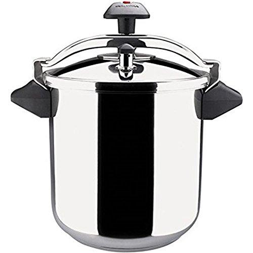 MAGEFESA INOXTAR Olla a presión rápida, Acero Inoxidable 18/10, Apta para Todo Tipo de cocinas, Incluido inducción (10L)