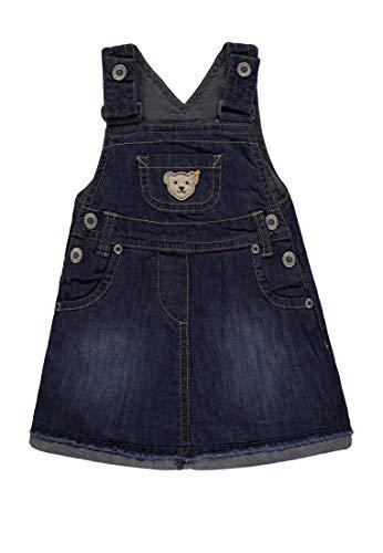 Steiff Mädchen Latzrock Jeans Rock, Blau (Blue Denim|Blue 0013), 110