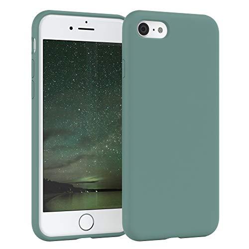 EAZY CASE Premium Silikon Handyhülle kompatibel mit Apple iPhone 8/7 / SE (2020), Slimcover mit Kameraschutz und Innenfutter, Silikonhülle, Schutzhülle, Bumper, Handy Case, Hülle, Grün