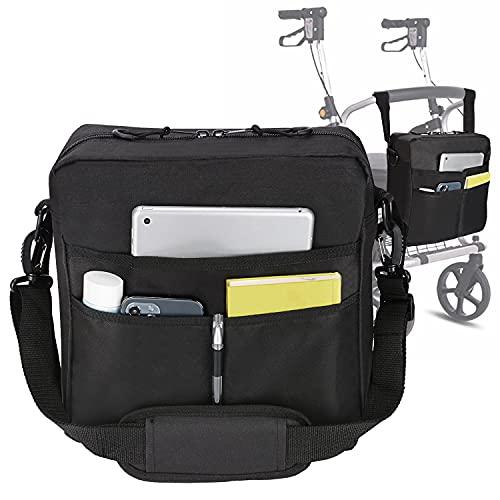 supregear Bolsa Andador, Ligero Rollator Bag Bolsa de Transporte Organizador Ajuste Universal de Nylon Duradero Bolso de Accesorios Travel Tote Walker para Cualquier Estilo de Caminante Rollator 🔥
