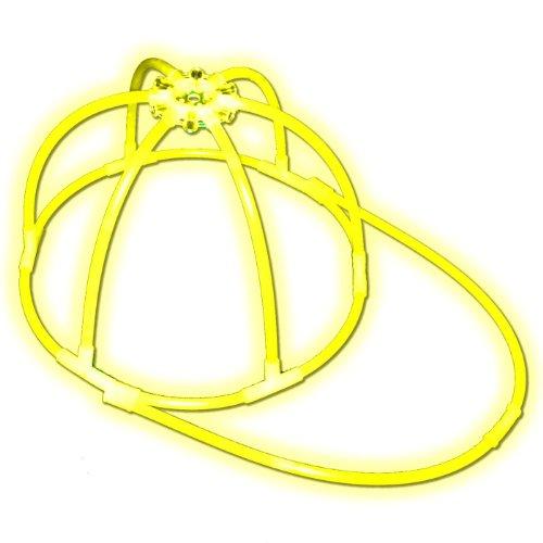 1 Knicklichter Leucht Kappe   GELB   Leucht Cap   Komplett-Set