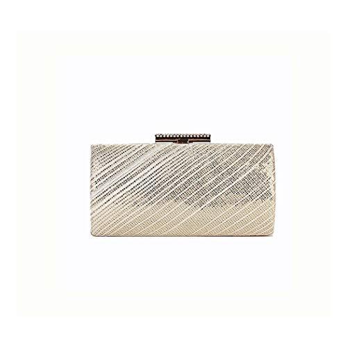 A-hyt diseño cómodo Señoras Encaje Nuevas vísperas Tejidas para Damas Manos de la Mano sosteniendo la Bolsa de Cadena cosmética Moda (Color : Gold, Size : 20 * 5.5 * 10cm)