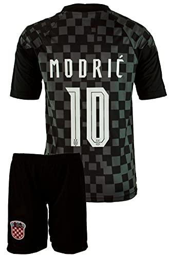 StoneMale 2021 Kroatien Auswärts Luka Modrić #10 Kinder Trikot Europäische Nationalmannschaften (140, 6-7 Jahre)