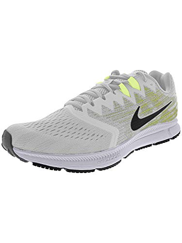 Nike Men's Zoom Span 2 Vast Grey/Black - Volt Ankle-High Running Shoe 10M