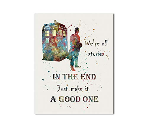 Tardis Doctor Who Quote Dr. Who time machine 11' x 14' Print