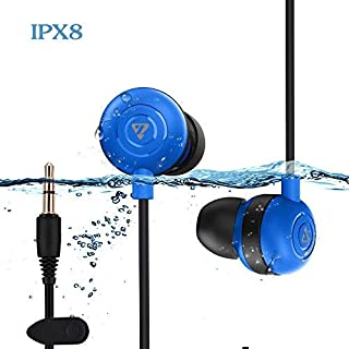 Waterproof Earbuds IPX8 Swimming Earphones in-Ear Headphones with Stereo Audio Extension Cable,Sport Earphones 100% Waterproof Swimming Earbuds(Blue) VZ SPORT MATE