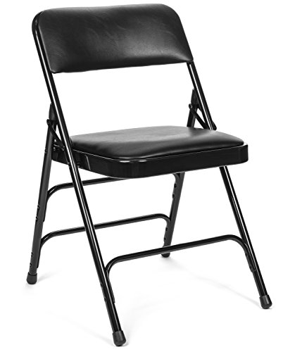 XL Series Vinyl Upholstered Folding Chair (4 Pack) - Heavy Duty 1.25