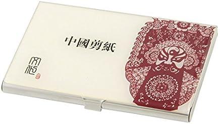 Edelstahl-Papierschneide Muster Kredit ID-Kartenhalter-Box, Rot