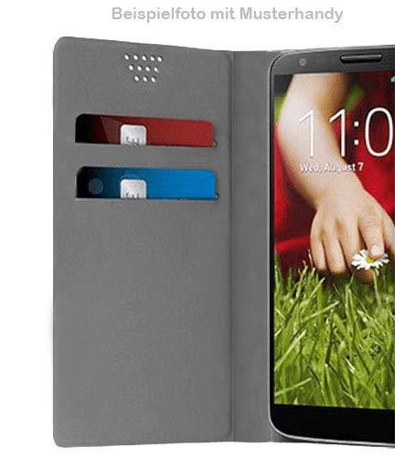 UltraProtection Schutztasche für Huawei Ascend Y200 Tasche, Schutz-Hülle, Handytasche, Wallet Cover Case, Handy Etui in Schwarz - 4