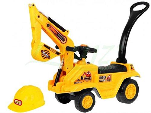 Excavadora para niños Ride-On con casco
