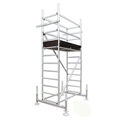 ALTEC Rollfix 400, Arbeitshöhe 4 m neu, inkl. Traverse, höhenverstellbarer Fußplatten und Wandanker, TÜV-geprüft,