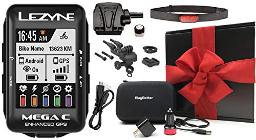 Read About Lezyne Mega C Bike GPS Loaded Kit Bundle | with Out-Front Mount & PlayBetter Portable Cha...