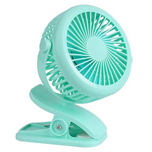 Fenteer Przenośny wentylator USB do nakładania, schładzacz powietrza do wózków dziecięcych, samochodu, na kemping, do biura podróży - zielony