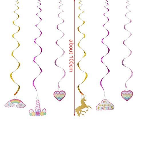 XCVB Tafeldecoratie Feestdecoratie Ballonnen Taarttoppers Kinderen Happy Birthday Feestartikelen Eenhoorn Verjaardag, 1 set slinger