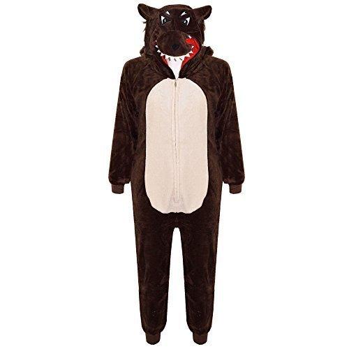 A2Z 4 Kids - Combinaison animal pour enfant - Tout-en-un - Taille unique - Douce et moelleuse - Singe - Gorille - Léopard - Tête de mort - Camouflage - Loup