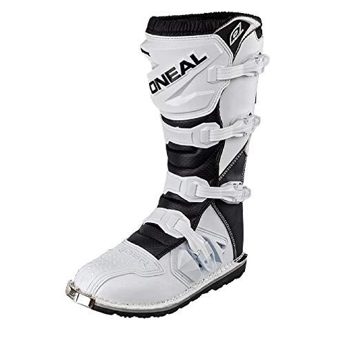 O'Neal Rider Boot MX Stiefel Weiß Moto Cross Enduro Motorrad, 0329-2, Größe 42