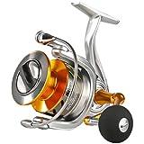 SeaKnight - Carrete de pesca giratorio Rapid II, con 10 + 1 rodamientos, anticorrosión, para agua salada, pesca de carpas, soporta un máximo de 10 kg, RAPID II 6000 4.7:1/arrastre máximo 10 kg.
