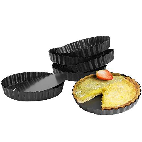 Xinzistar 6 moldes para tartas con fondo extraíble, 10 cm, redondo, antiadherente, para tartas y tartas (12 cm)