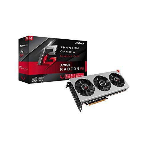 ASRock Phantom Gaming X Radeon VII - Tarjeta gráfica (16 GB, HBM2, PCIe), Color Plateado