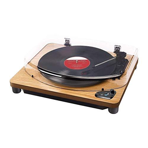 KSW_KKW Plattenspieler, Jahrgang Plattenspi Plattenspieler mit eingebautem Stereo-Lautsprecher, Holz