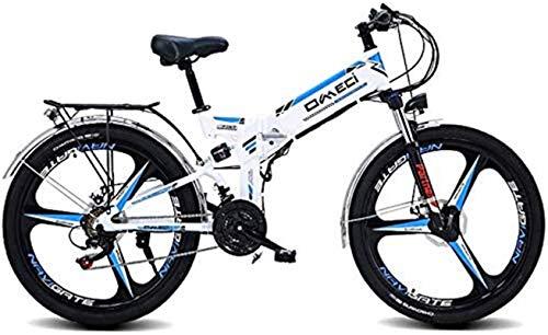 Bicicleta eléctrica de nieve, Montaña plegable de la bici eléctrica de 26 '/ 24' Bicicleta de montaña, frontal y dobles de choque posterior absorción tres modos de trabajo for los adultos Ciudad De tr