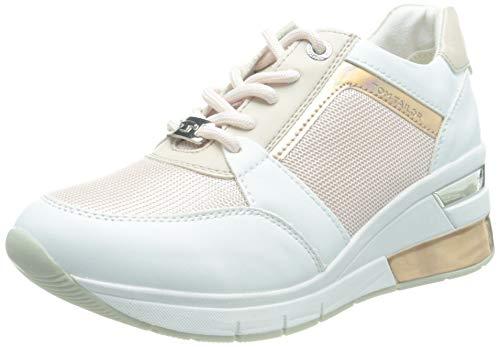 TOM TAILOR Damen 1193803 Sneaker, White-Rose, 38 EU