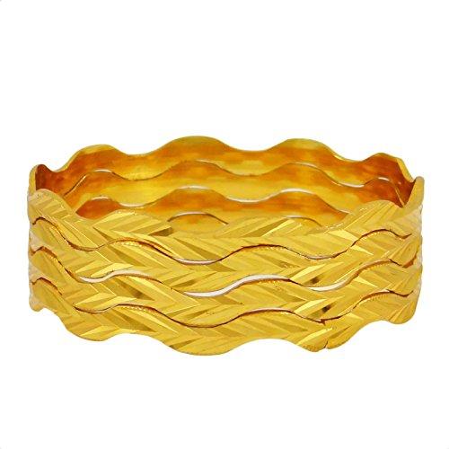 Indianbeautifulart ethnische traditionelle indische vergoldete Armreife bollywood Schmuck für Geschenk 2 * 4