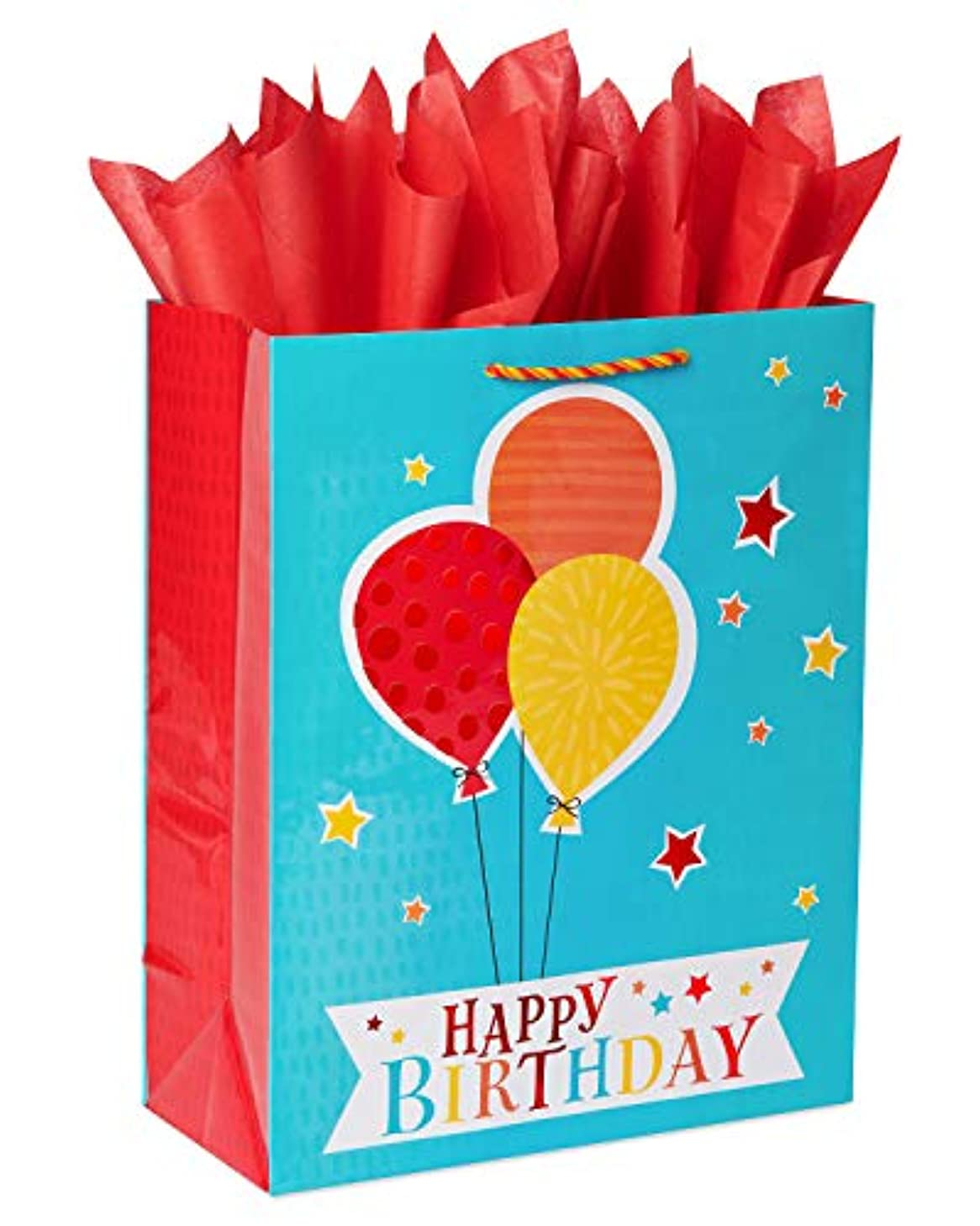 American Greetings 6424357 Gift Bag and Tissue, 1, multicolor