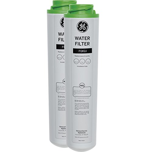 GE FQK2J Dual Flow Drinking Water Replacement Filters Light Gray, 2.5 x 2.5 x 10 inches