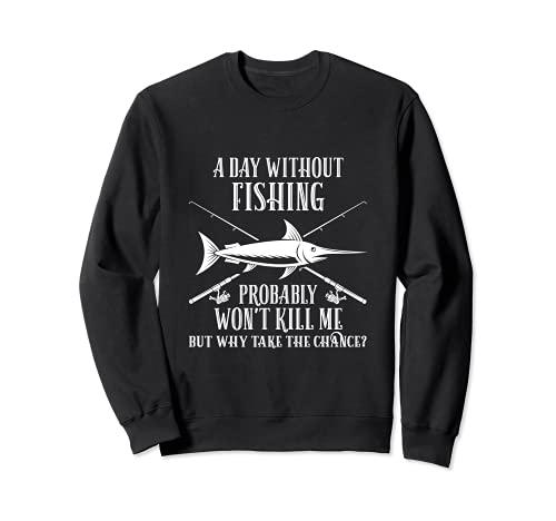 Fischen Hemd Mann lustige Fisch Geschenk Vati Onkel Sweatshirt