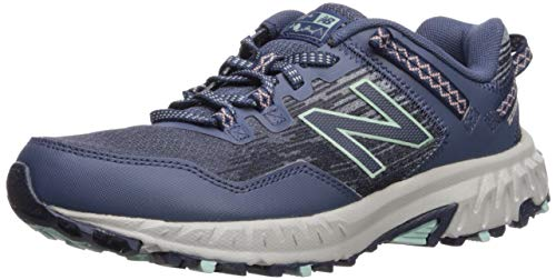 New Balance Women's 410 V6 Trail Running Shoe, Vintage Indigo/White Peach/White Agave, 8 W...
