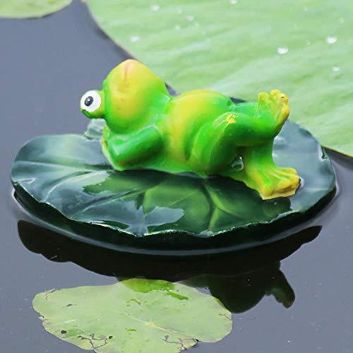 Good feeling zm 13X13X10Cm Liegend Haltung Schwimmenden Wasserfrosch Simulation Frosch Aquarium Dekorative Ornamente Garten Im Freien Kleinen Teich Landschaftsbau Harz Skulptur