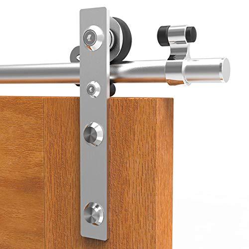 6FT/182cm Rostfreier Stahl Schiebetür Schiebetürsystem Schiebetürbeschlag Laufschiene Schiebetür, Sliding Barn Door Kit