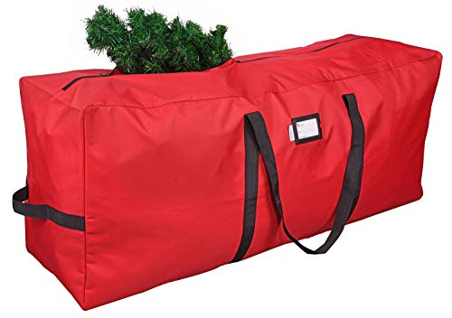 "Primode Xmas Tree Storage Bag | Fits Up to 7 Ft. Disassembled Holiday Tree | 50"" x 15"" x 20"" Tree Storage Container 