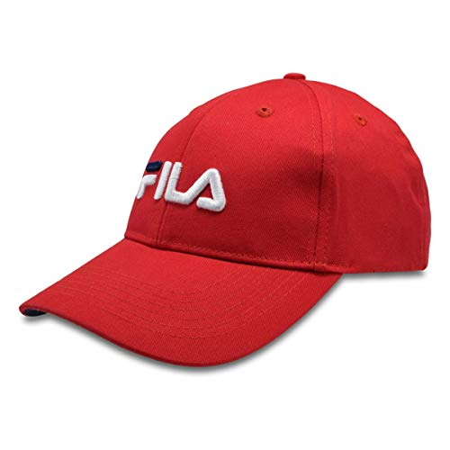Fila Heritage Linear Logo Dad Hat w/Contrast Underbrim Chinese Red OS