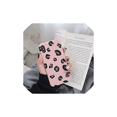 Fashion Leopard Print Phone Case for iPhone Xs Max XR X Case for iPhone 6 6s 7 8 Plus Back Cover Luxury Soft Cases Colorful Capa,Pink,for iPhone8